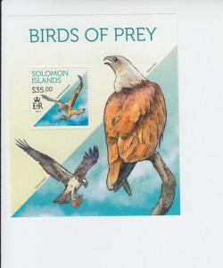 2014 Solomon Islands Birds of Prey SS (Scott 1715)  MNH