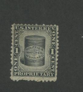 1871 United States Internal Revenue Boutell & Maynard Matches Stamp #RO38b