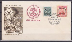 Philippines, 608-609. 1st National Scout Jamboree issue. First day cover. ^