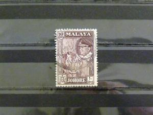1428   Malaya - Johore   Used, VF   # 163   Sultan and Tiger