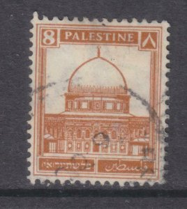 PALESTINE, 1927 Dome of the Rock 8m. Yellow Brown, used.