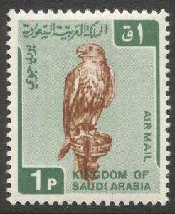 SAUDI ARABIA 1968 Sc C96, MNH, VF, 1p Falcon Airmail