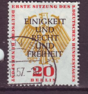 J17505 JLstamps 1955 germany berlin occup,t hv of set used #9n117 arms