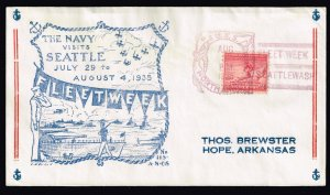 US STAMP # 1935 NAVY FLEET WEEK CACHET COVER