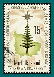 Norfolk Island 1975 Christmas, 15c used #188,SG166