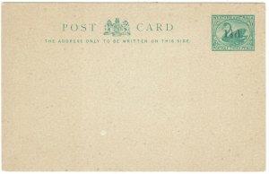 WESTERN AUSTRALIA 18902 SWAN 11/2D ON 3D POSTCARD