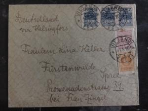 1920 Viljandi Estonia Rare Envelope Cover to Germany