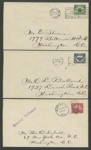 #C4-C6 AIRMAIL SET OF 3 FIRST DAY COVERS 1923 (XF) CV $1,950 WLM8162