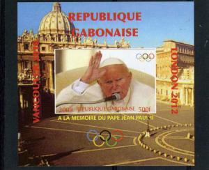 GABON 2009 Pope John Paul II Memory Deluxe s/s Mint (NH) VF #3