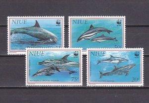 Niue, Scott cat. 651-654. Dolphins issue. ^