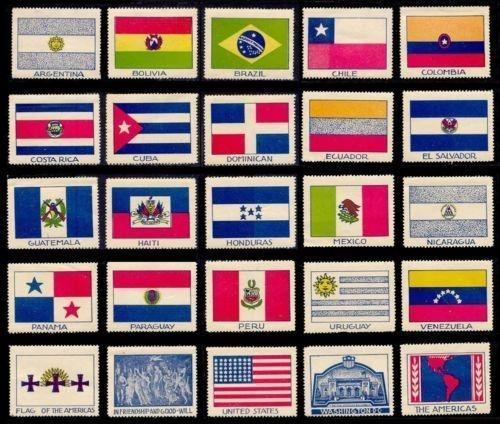 US 1940 Pan-American Union 50th Anniversary Staehle/Dietz Poster Stamps