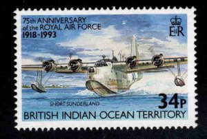 British Indian Ocean Territory BIOT Scott 138 MH* Flying Boat stamp