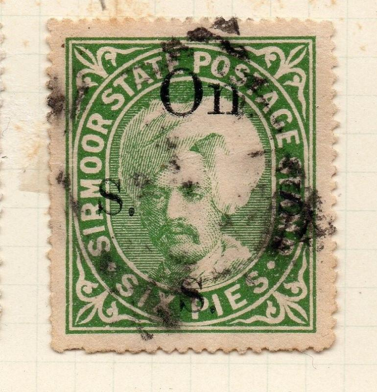Indian States Sirmoor 1885-88 Early Issue Fine Used 6p. OFFICIAL 194698