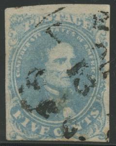 CSA #4b LIGHT MILKY BLUE -- VF USED -- CV $250+ BU4768