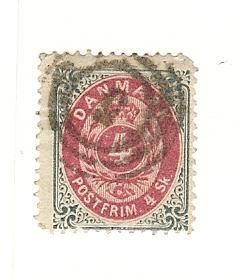 Denmark, 18, Numerals, Single, Used