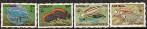 GRENADA SG1334/7 1984 CORAL REFF FISHES MNH