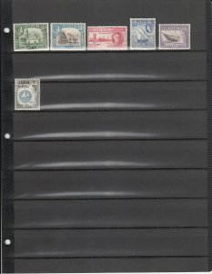 ADEN 6 DIFFERENT MNH 16/56 SEE DESCRIPITION AREA LIST 2019 SCV $16.75