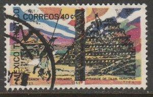 MEXICO 1008, TOURISM PROMOTION, TAJIN PYRAMID. USED. F-VF. (1243)