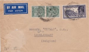 India 9p KGV (2) and 8a KGVI Mail Truck 1939 Mount Road, Madras Airmail to Lo...