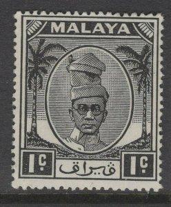 MALAYA PERAK SG128 1950 1c BLACK MTD MINT