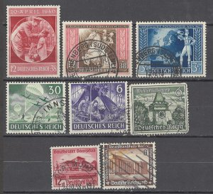 COLLECTION LOT # 1672 GERMANY 8 SEMI POSTAL STAMPS 1936+