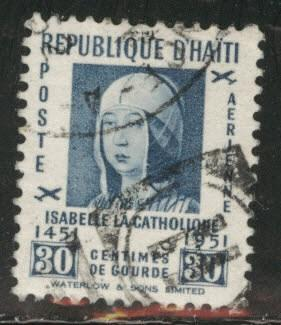 Haiti  Scott C56 Used 1952 Isabella stamp