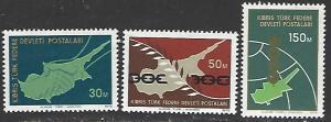Northern Cyprus #23-25 MNH Set of 3