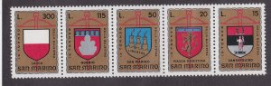 San Marino # 847a, Crossbow Tournament, Coats of Arms, LH, 1/3 Cat.