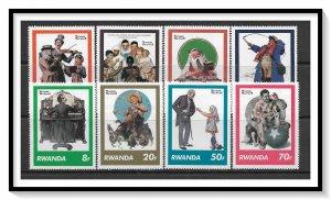 Rwanda #1027-1034 Norman Rockwell Covers Set MNH