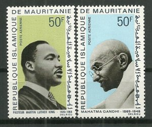 1968 Mauritania C77-8 Two Apostles of Peace C/S of 2 MNH