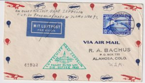 GERMANY C38 ZEPPELIN ON COVER INTERESTING USAGE! - CV75
