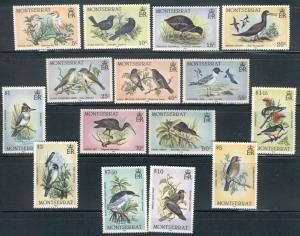 BIRDS, MONTSERRAT:  MNH 1984 Complete Set; Sc 524-538