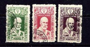 Indochina 234-36 Used 1943-45 set