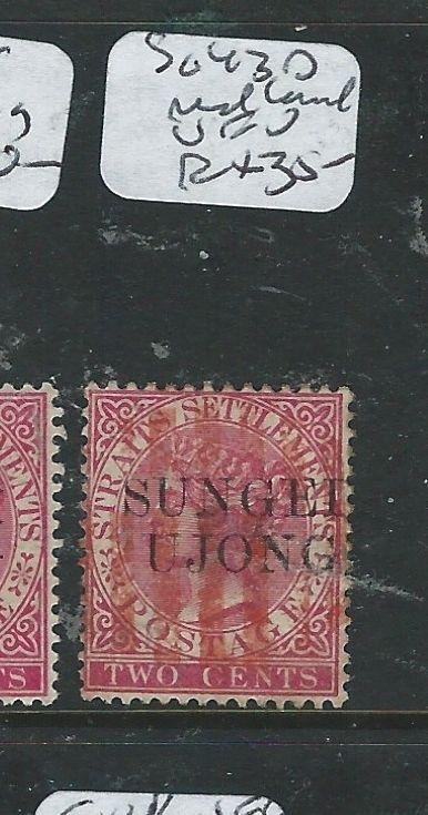 MALAYA SUNGEI UJONG (P0610B) 2C QV  SG 43D  RED CANCEL  VFU