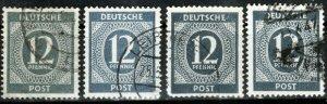 Germany Kontrollrat 920 abcd used