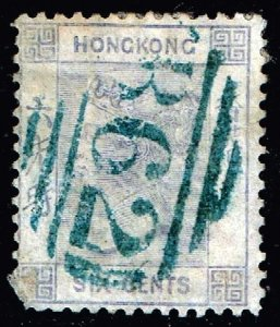 UK STAMP CHINA HONG KONG QUEEN VICTORIA  USED 6C