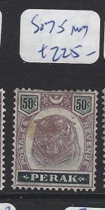 MALAYA  PERAK   (PP2507B)  TIGER 50C   SG  75     MOG