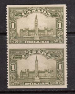 Canada #159c XF/NH Imperf Pair