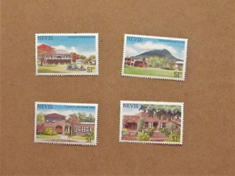 Nevis - 280-83, MNH Set. Colony Tourism. SCV - $2.40