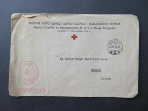 Romania 1940 Red Cross POW Cover to Switzerland - Z8076