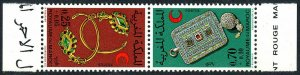 Morocco B26-B27a tête-bêche pair,MNH.Moroccan Red Crescent Society.Jewelry,1972