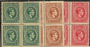 Jamaica, Scott #116-118, Mint NH, dist. Gum