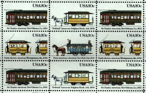 US Scott 2059-62 Street cars Mint NH sheet of 50
