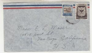COLOMBIA, 1938 Airmail cover, Bucaramanga to California.