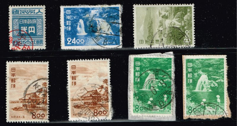 JAPAN STAMP USED STAMPS ON PAPER COLLECTION LOT