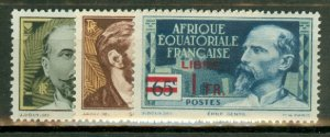 BC: French Equatorial Africa 80//124, 126-7 missing all high values CV $169