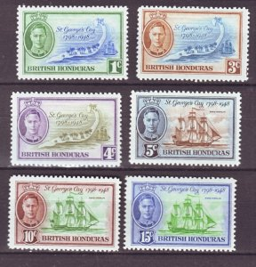 J22190 Jlstamps 1949 br honduras set mnh #131-6 king/ships