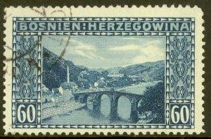 BOSNIA AND HERZEGOVINA 1912 60H KONJICA BRIDGE Issue Sc 63 VFU
