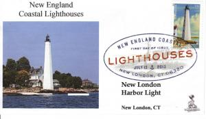 NE Coastal Lighthouses FDC, w/ DCP cancel, #2 of 5