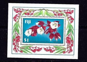 Fiji 570 MNH 1987 Flowers S/S